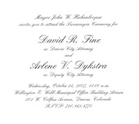 Scan of the invitation
