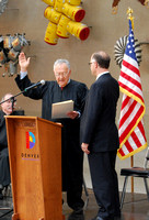 David Fine takes his oath of office - from Judge Arthur Fine